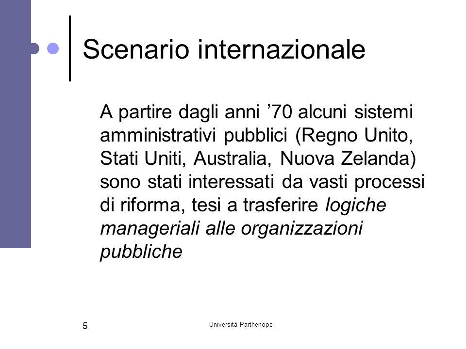Scenario internazionale