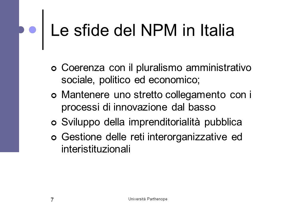 Le sfide del NPM in Italia