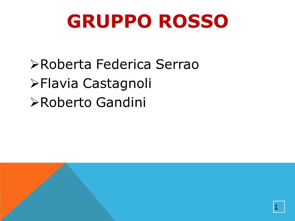 GRUPPO ROSSO Roberta Federica Serrao Flavia Castagnoli Roberto Gandini