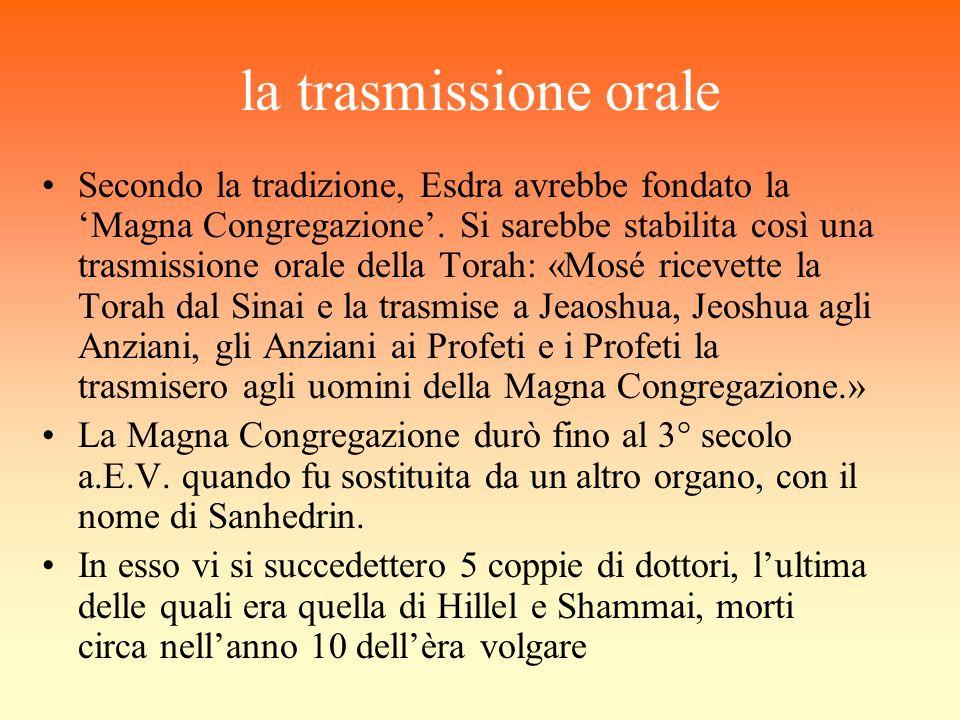 la trasmissione orale