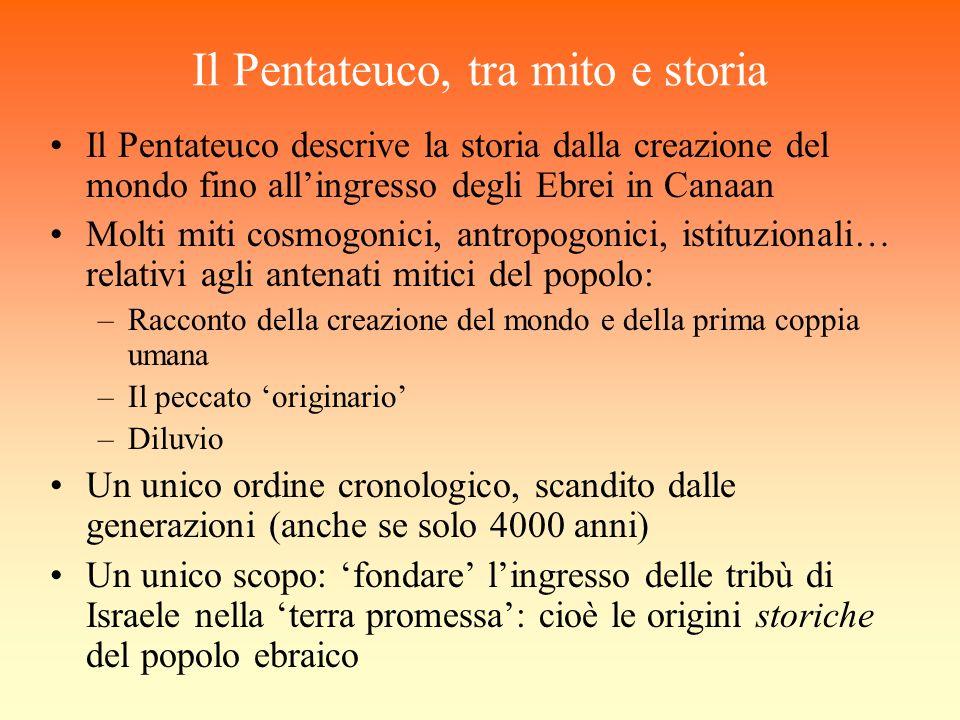 Il Pentateuco, tra mito e storia