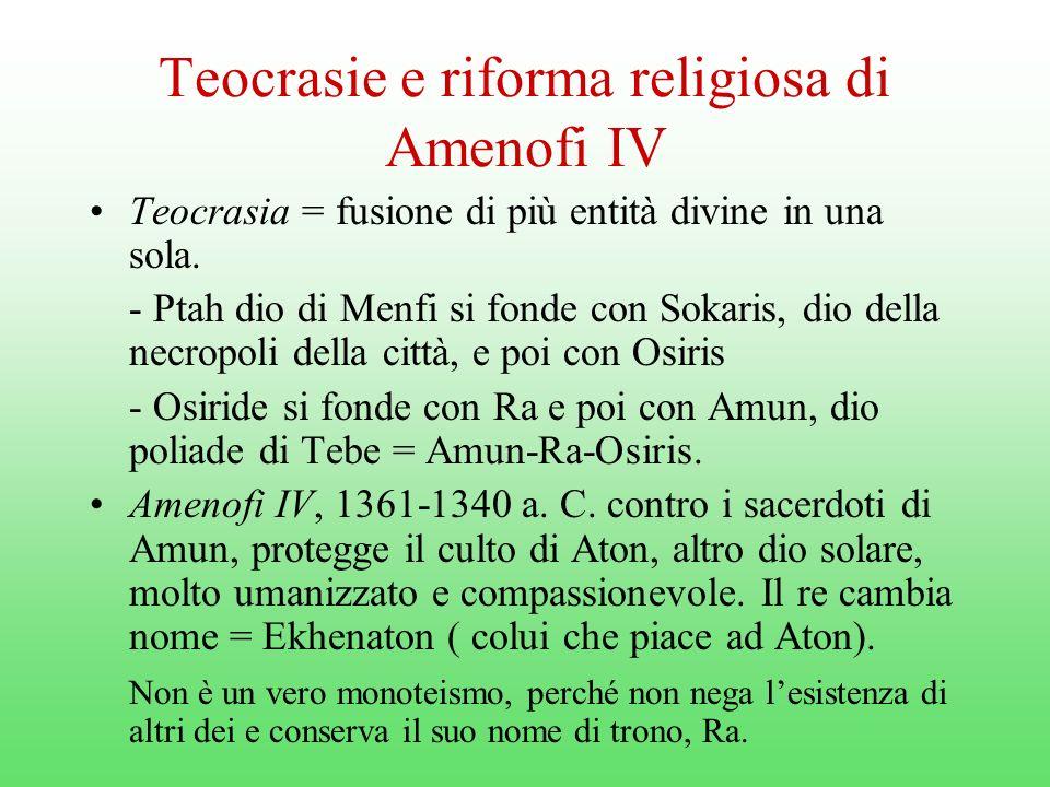 Teocrasie e riforma religiosa di Amenofi IV