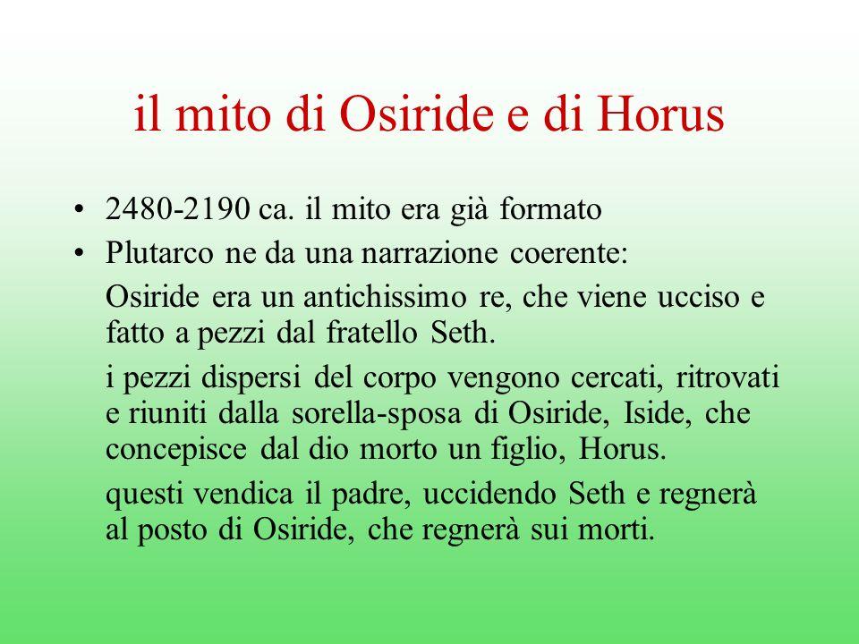 il mito di Osiride e di Horus