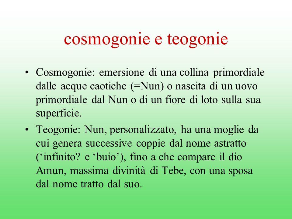 cosmogonie e teogonie
