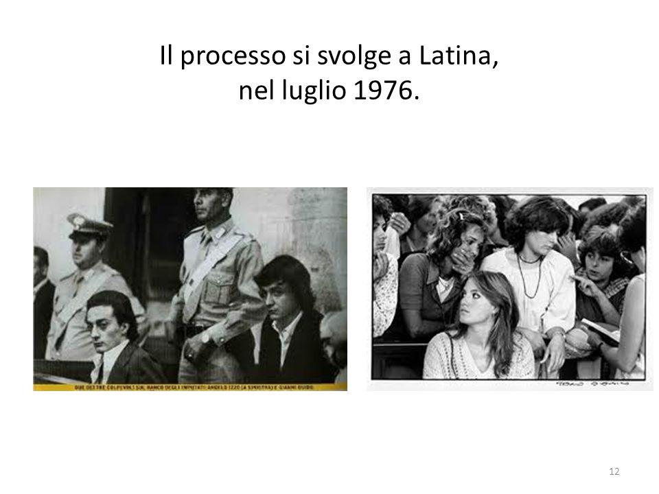Il processo si svolge a Latina, nel luglio 1976.