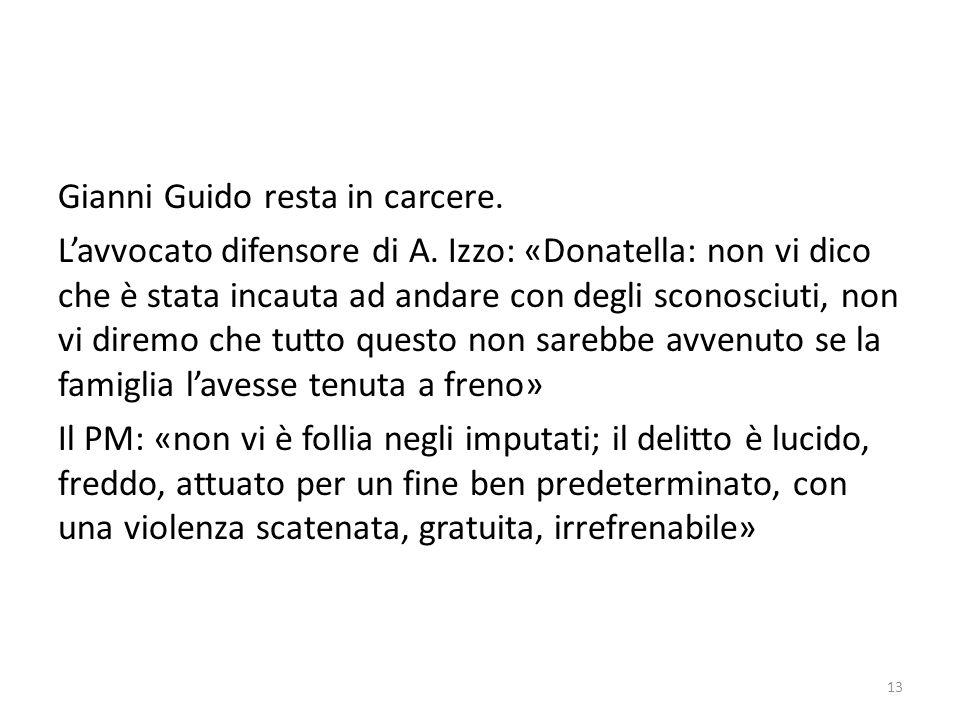 Gianni Guido resta in carcere. L'avvocato difensore di A