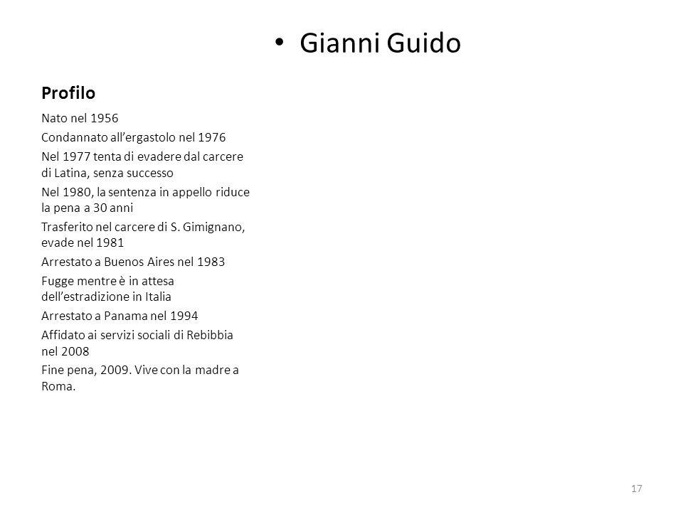 Gianni Guido Profilo Nato nel 1956 Condannato all'ergastolo nel 1976