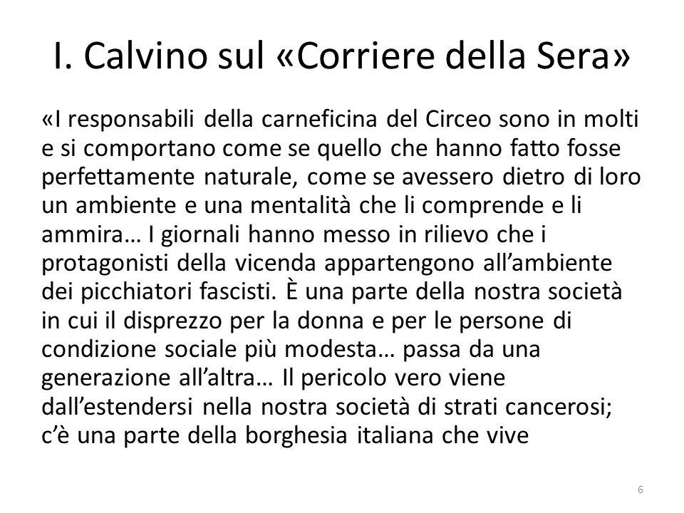 I. Calvino sul «Corriere della Sera»