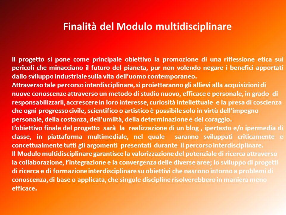 Finalità del Modulo multidisciplinare