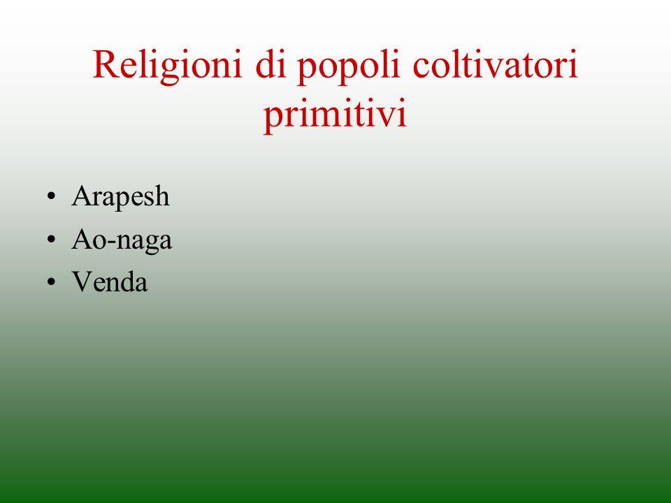 Religioni di popoli coltivatori primitivi