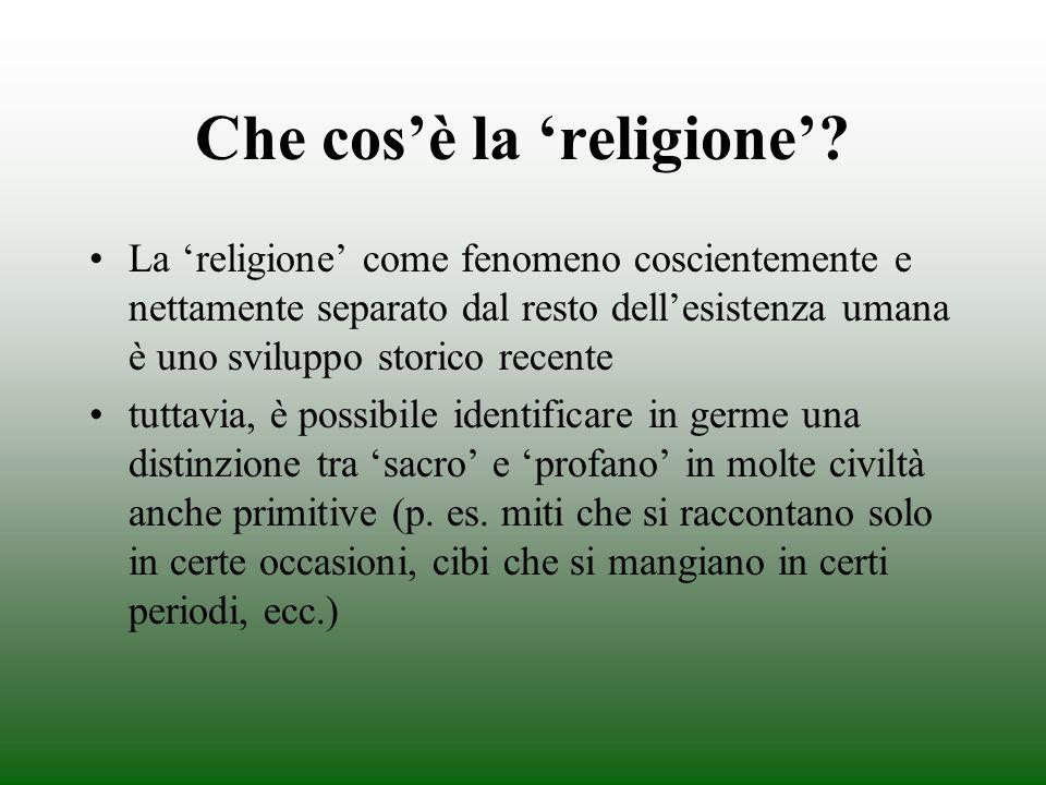 Che cos'è la 'religione'