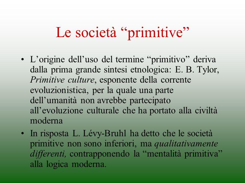 Le società primitive