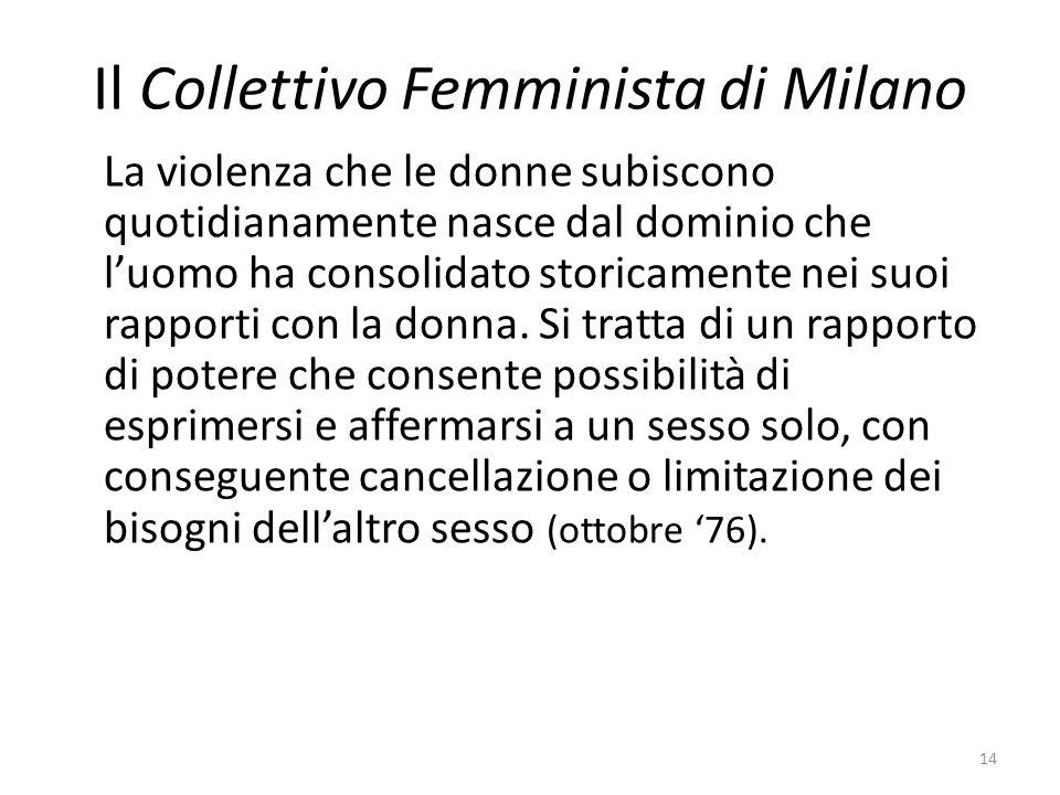 Il Collettivo Femminista di Milano