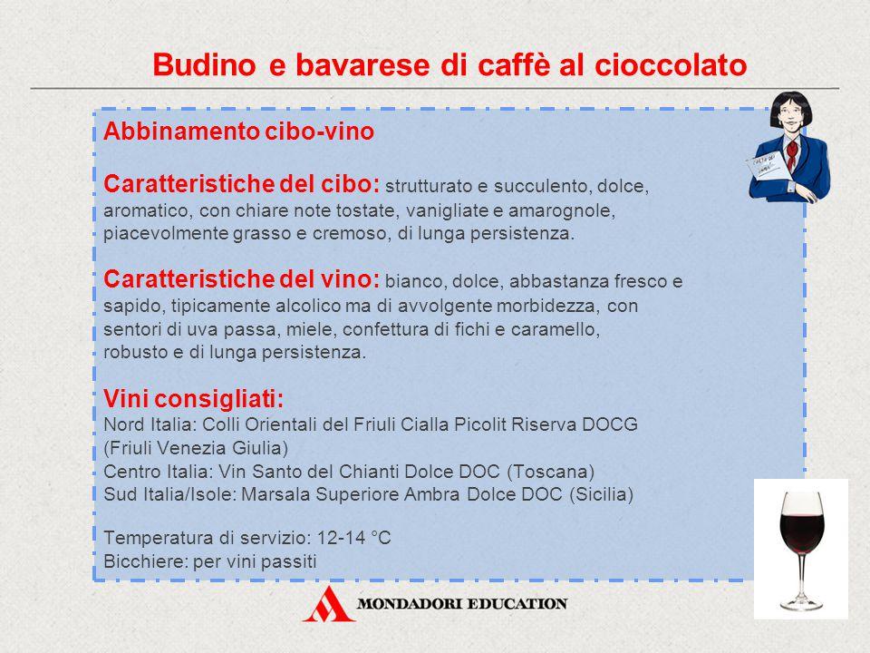 Budino e bavarese di caffè al cioccolato