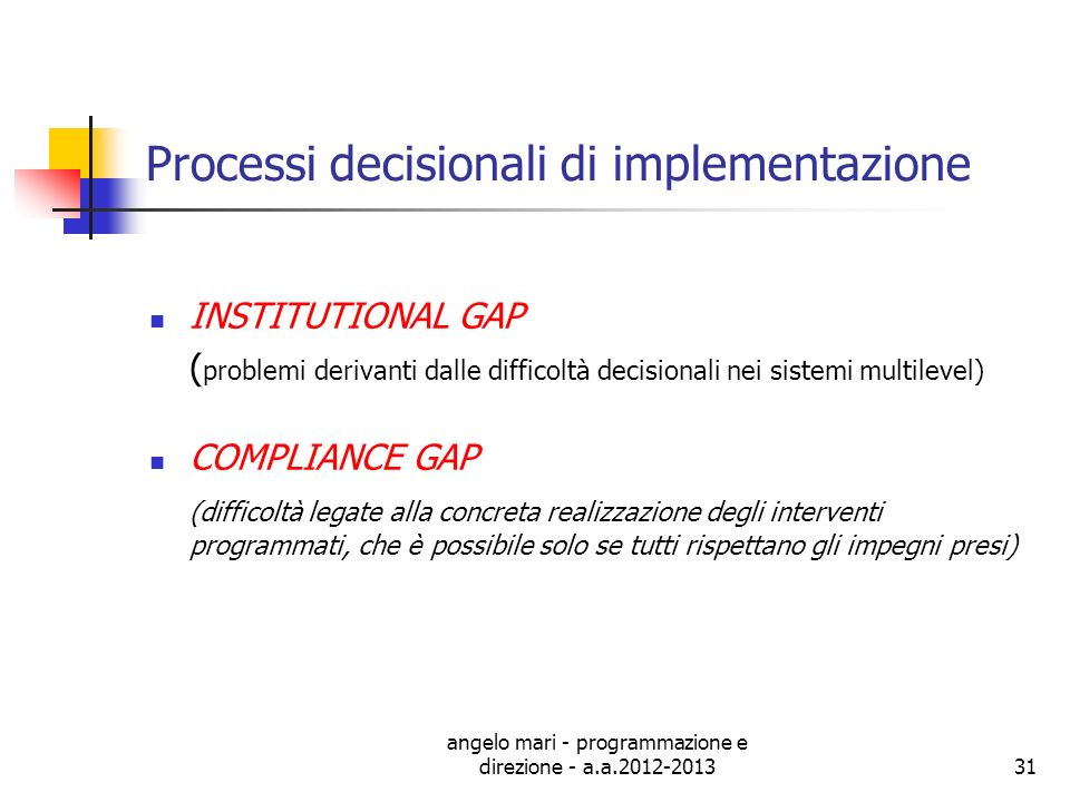 Processi decisionali di implementazione