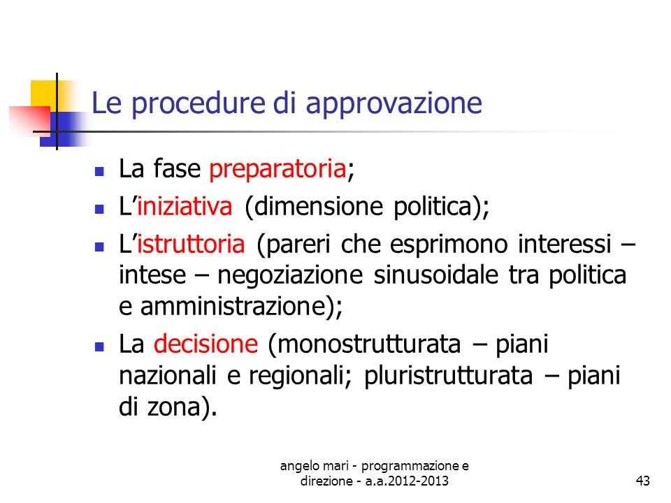 Le procedure di approvazione