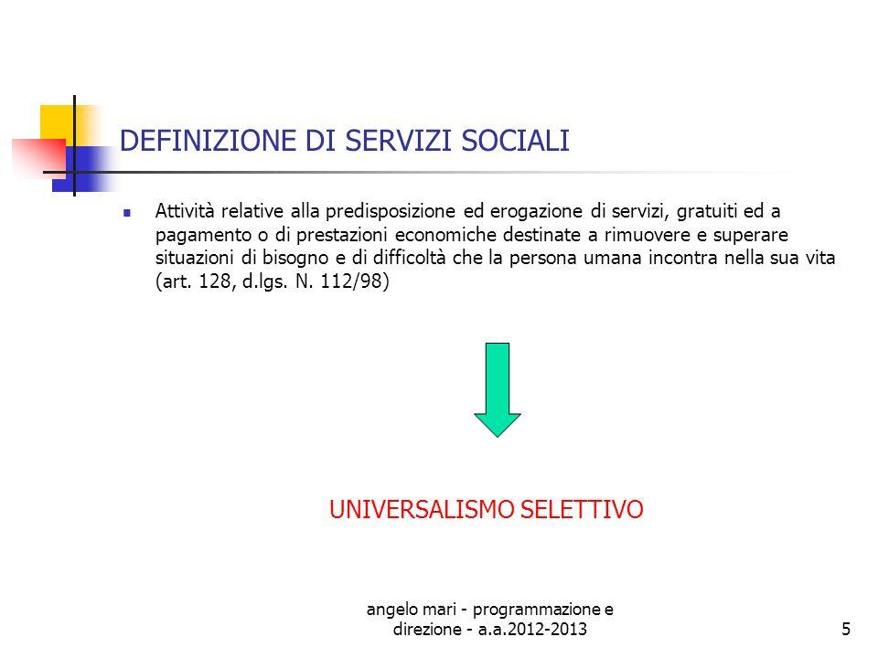 DEFINIZIONE DI SERVIZI SOCIALI