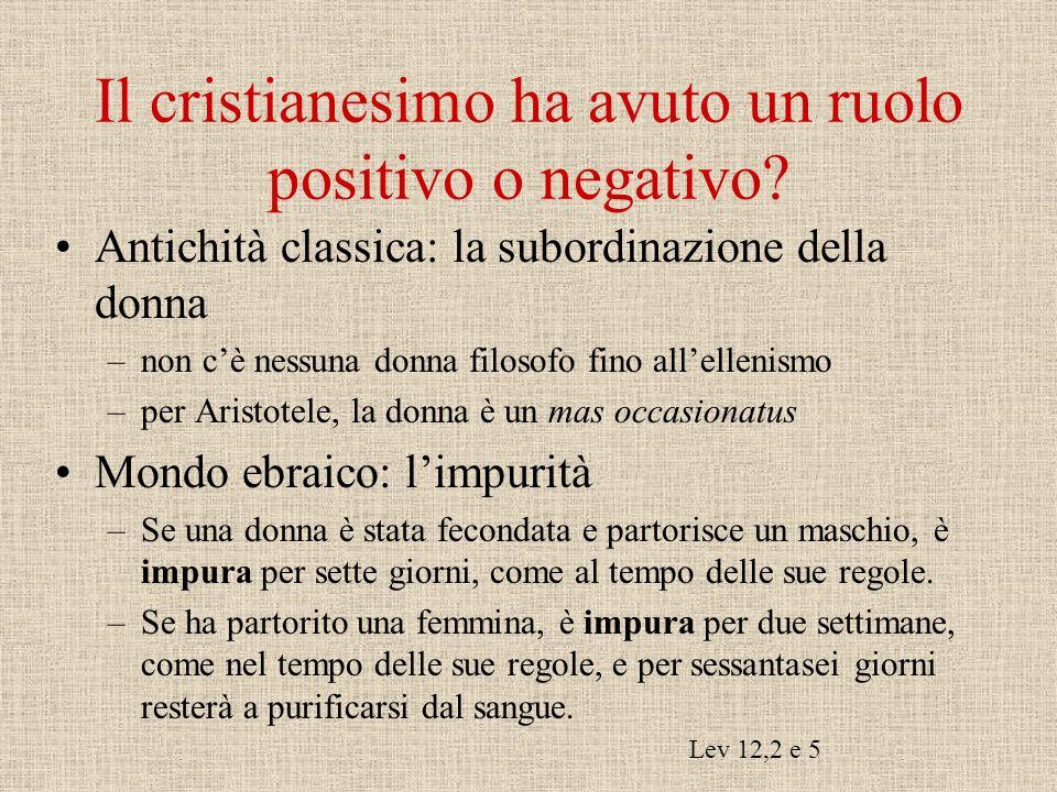 Il cristianesimo ha avuto un ruolo positivo o negativo