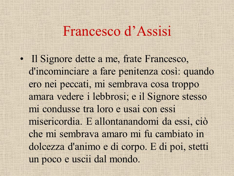 Francesco d'Assisi