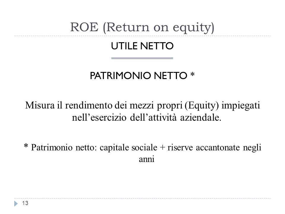 ROE (Return on equity)