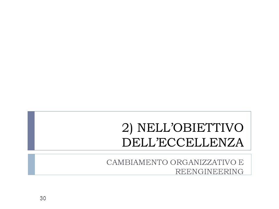 2) NELL'OBIETTIVO DELL'ECCELLENZA