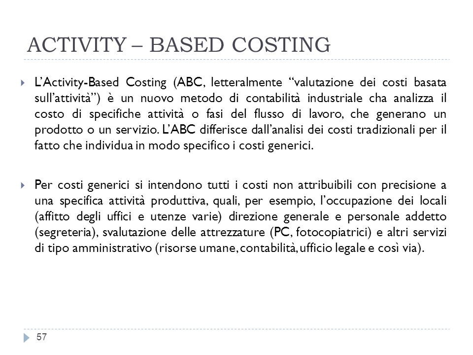 ACTIVITY – BASED COSTING