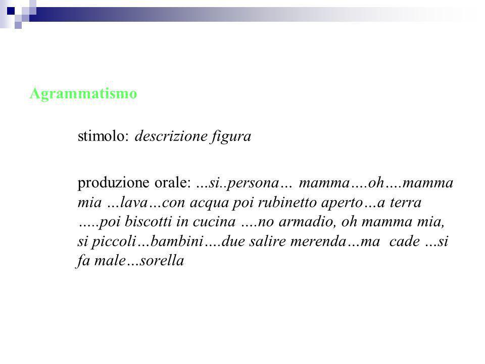 Agrammatismo stimolo: descrizione figura.