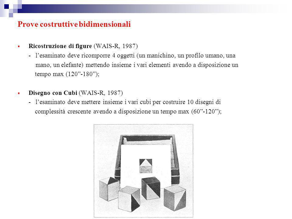 Prove costruttive bidimensionali