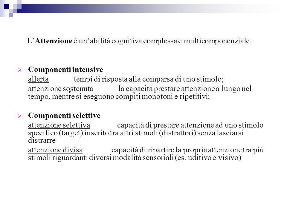 L'Attenzione è un'abilità cognitiva complessa e multicomponenziale: