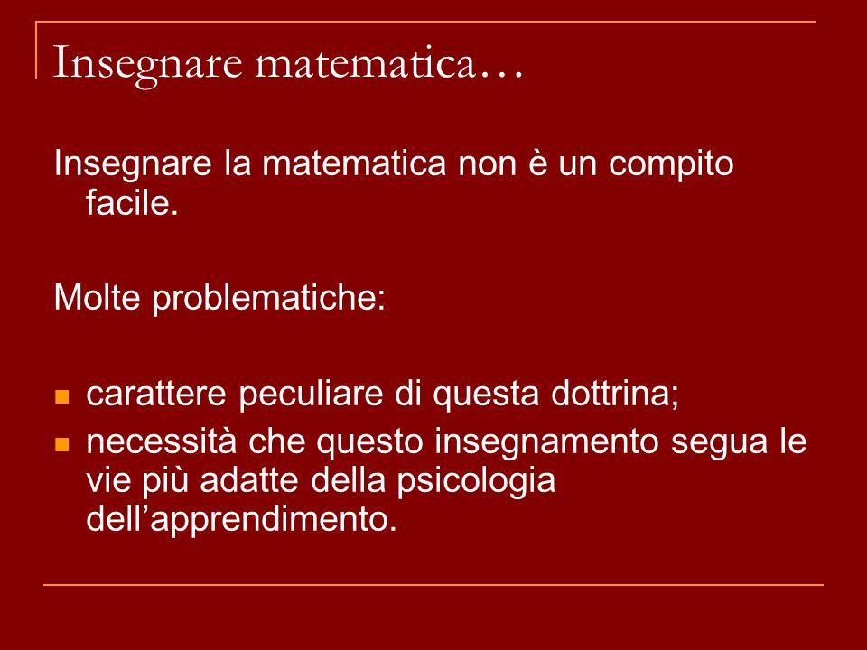 Insegnare matematica…