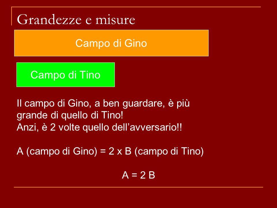 Grandezze e misure Campo di Gino Campo di Tino