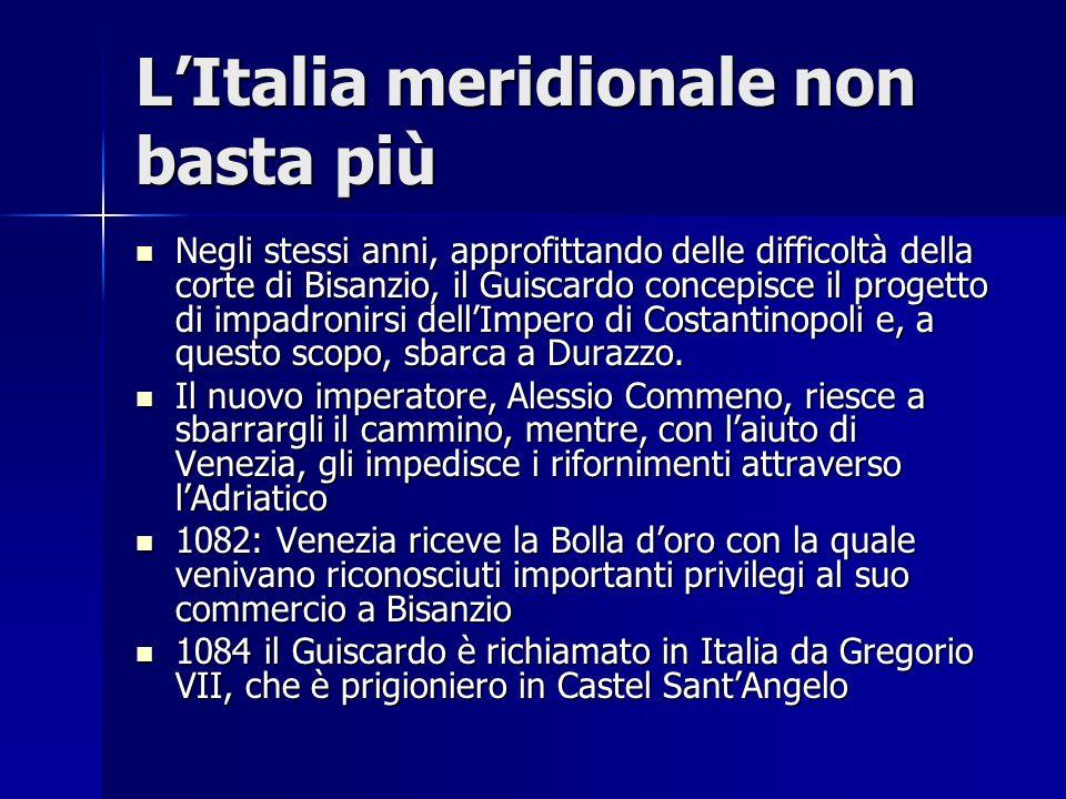 L'Italia meridionale non basta più