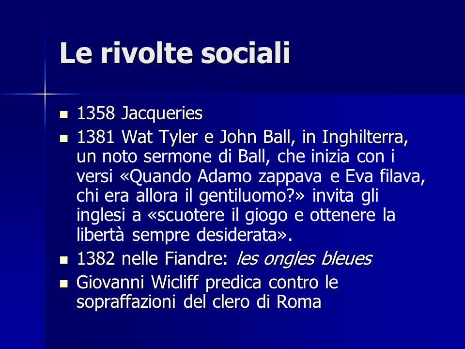 Le rivolte sociali 1358 Jacqueries