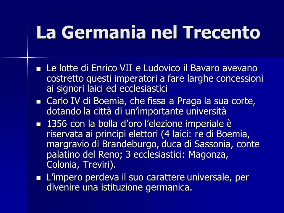 La Germania nel Trecento