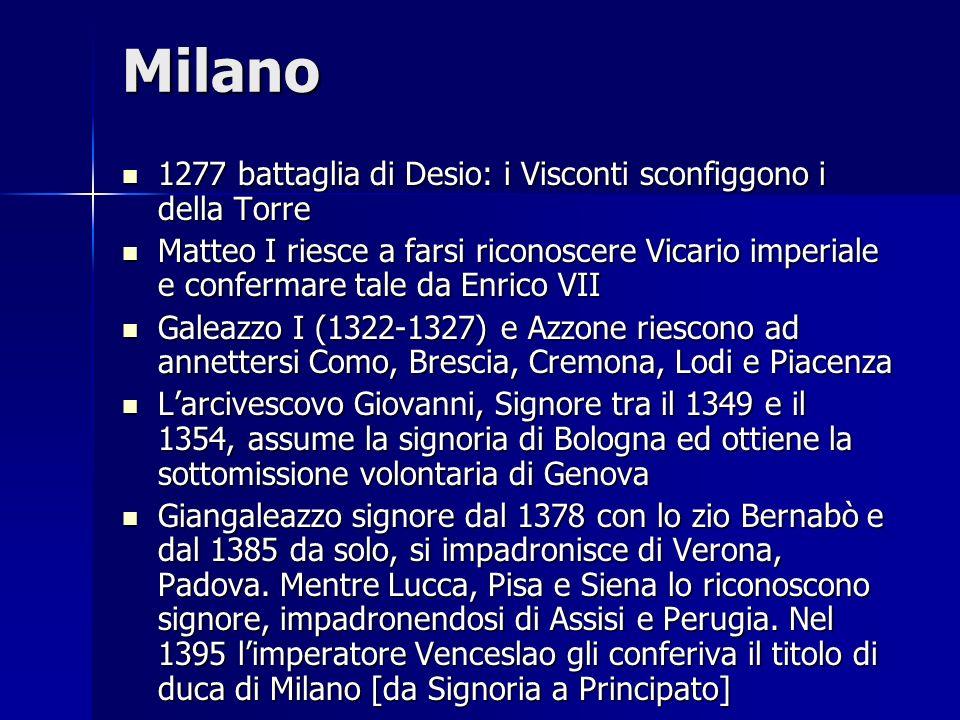 Milano 1277 battaglia di Desio: i Visconti sconfiggono i della Torre