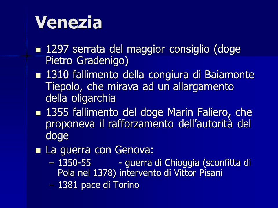 Venezia 1297 serrata del maggior consiglio (doge Pietro Gradenigo)
