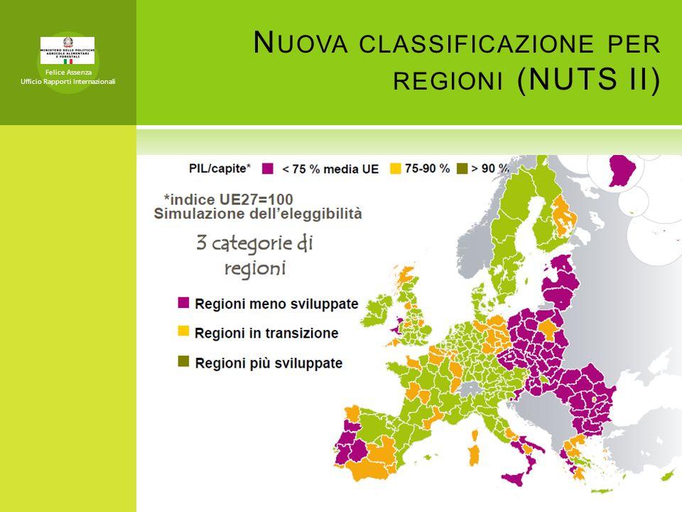 Nuova classificazione per regioni (NUTS II)
