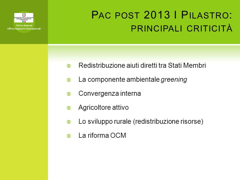 Pac post 2013 I Pilastro: principali criticità