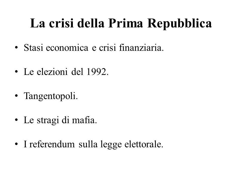 La crisi della Prima Repubblica