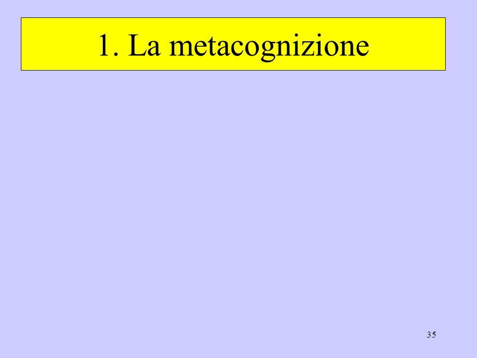 1. La metacognizione