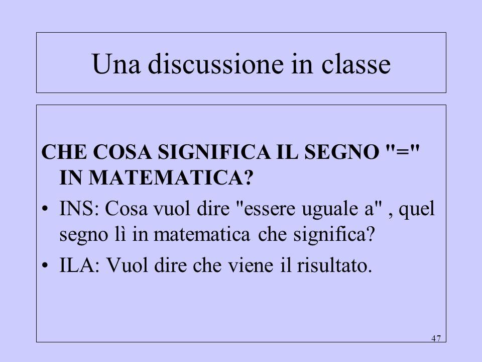 Una discussione in classe
