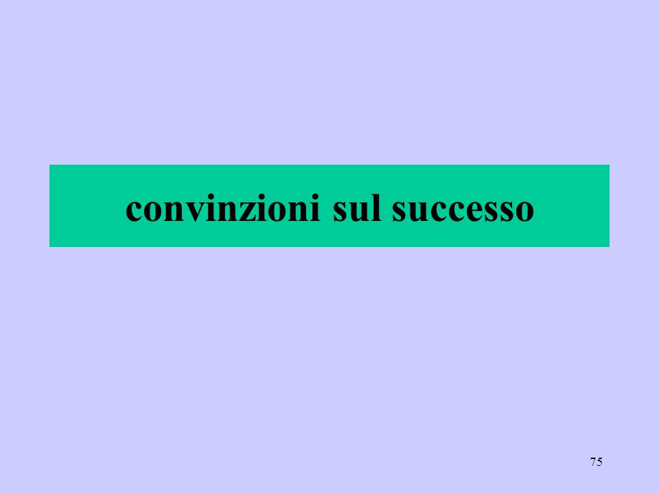 convinzioni sul successo