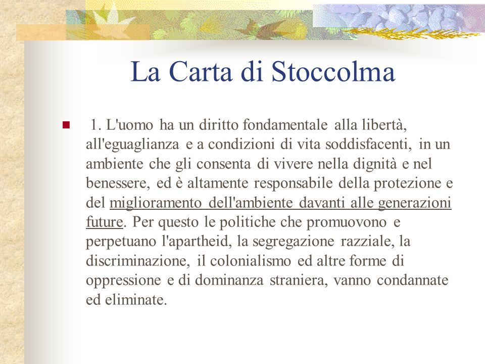 La Carta di Stoccolma