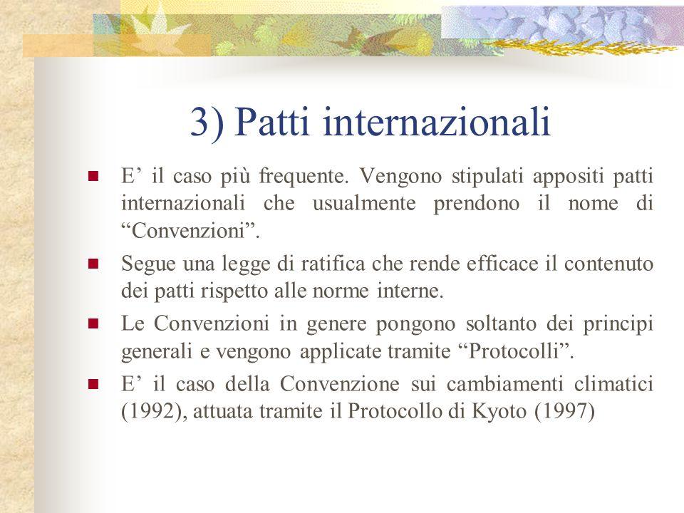 3) Patti internazionali