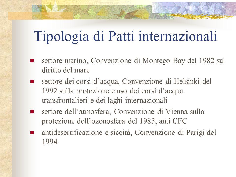 Tipologia di Patti internazionali