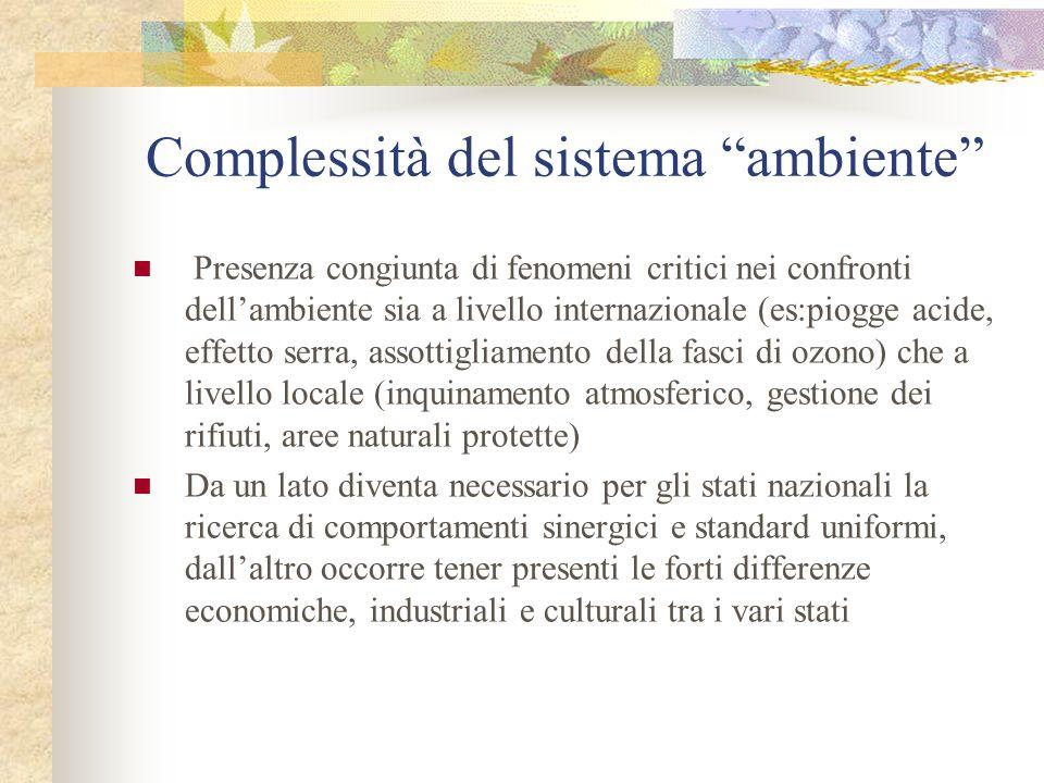 Complessità del sistema ambiente
