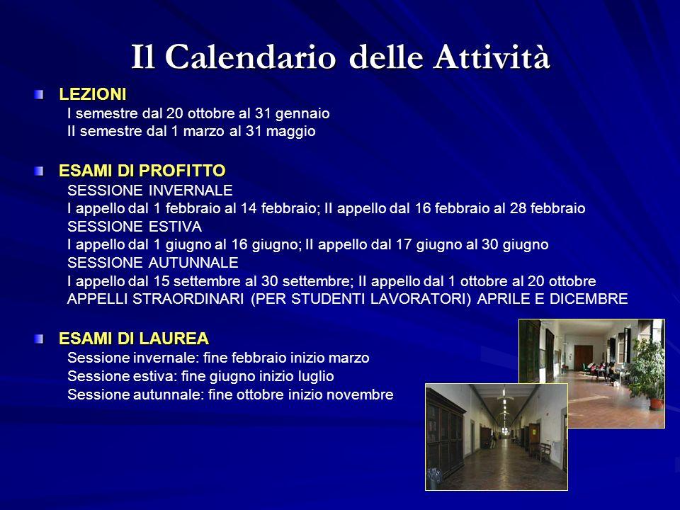 Il Calendario delle Attività