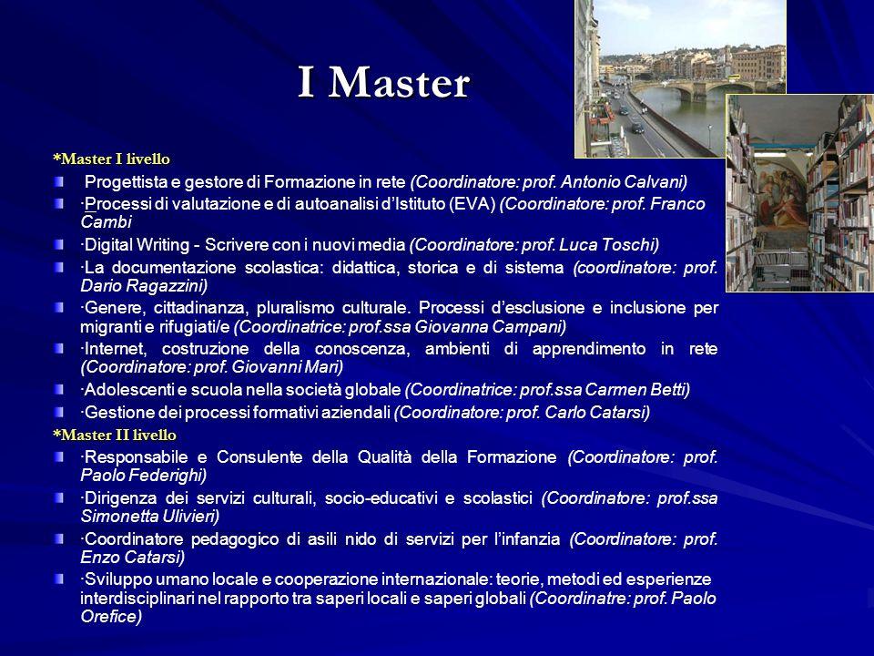 I Master *Master I livello