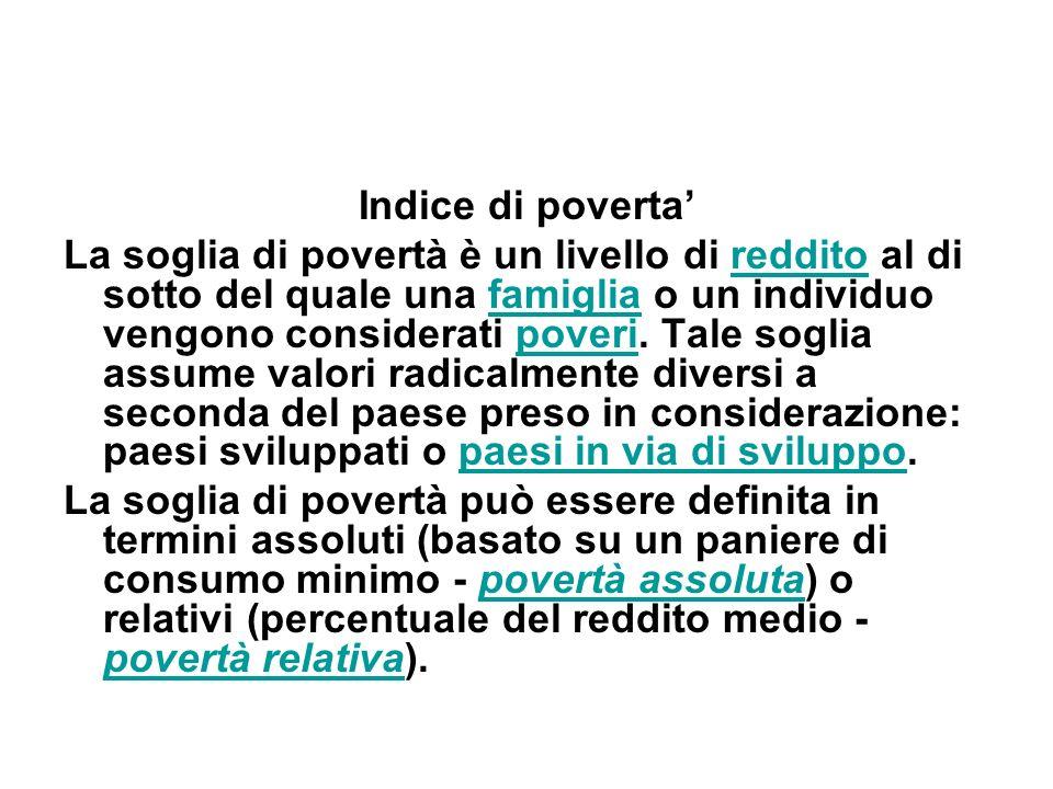 Indice di poverta'