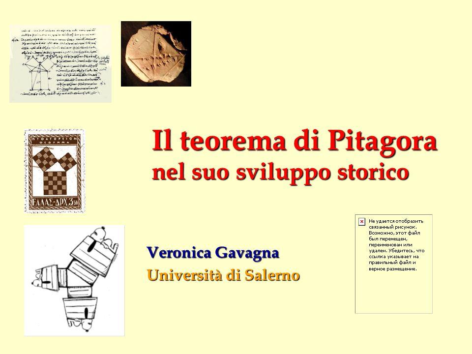 Il teorema di Pitagora nel suo sviluppo storico